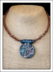 """""""Round #1 - Abstract Art"""" Necklace (02-007)"""