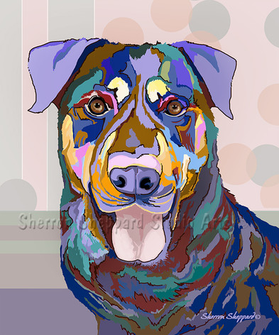"""Pop Art"" Graphic Illustration of Gracie"