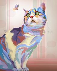 """""""Pop Art"""" digital illustration of Daisy"""