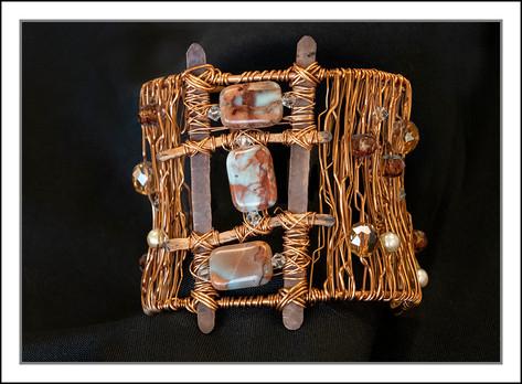 """""""Jasper Trio""""  Free Form Wire Bracelet (03-004)"""