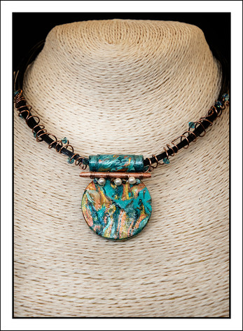 """Round #2 - Abstract Art"" Necklace (02-006)"