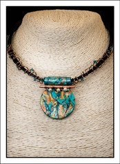 """""""Round #2 - Abstract Art"""" Necklace (02-006)"""