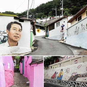 หมู่บ้านจิตรกรรมฝาผนัง ชินเซดง เมืองอันดง (Sinse-dong Mural Village, Andong)