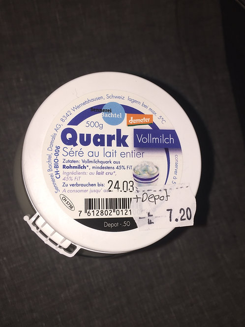 Quark, Vollmilch, 500 gr