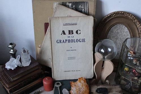 2 Livres anciens ABC de la graphologie Crépieux-Jamin