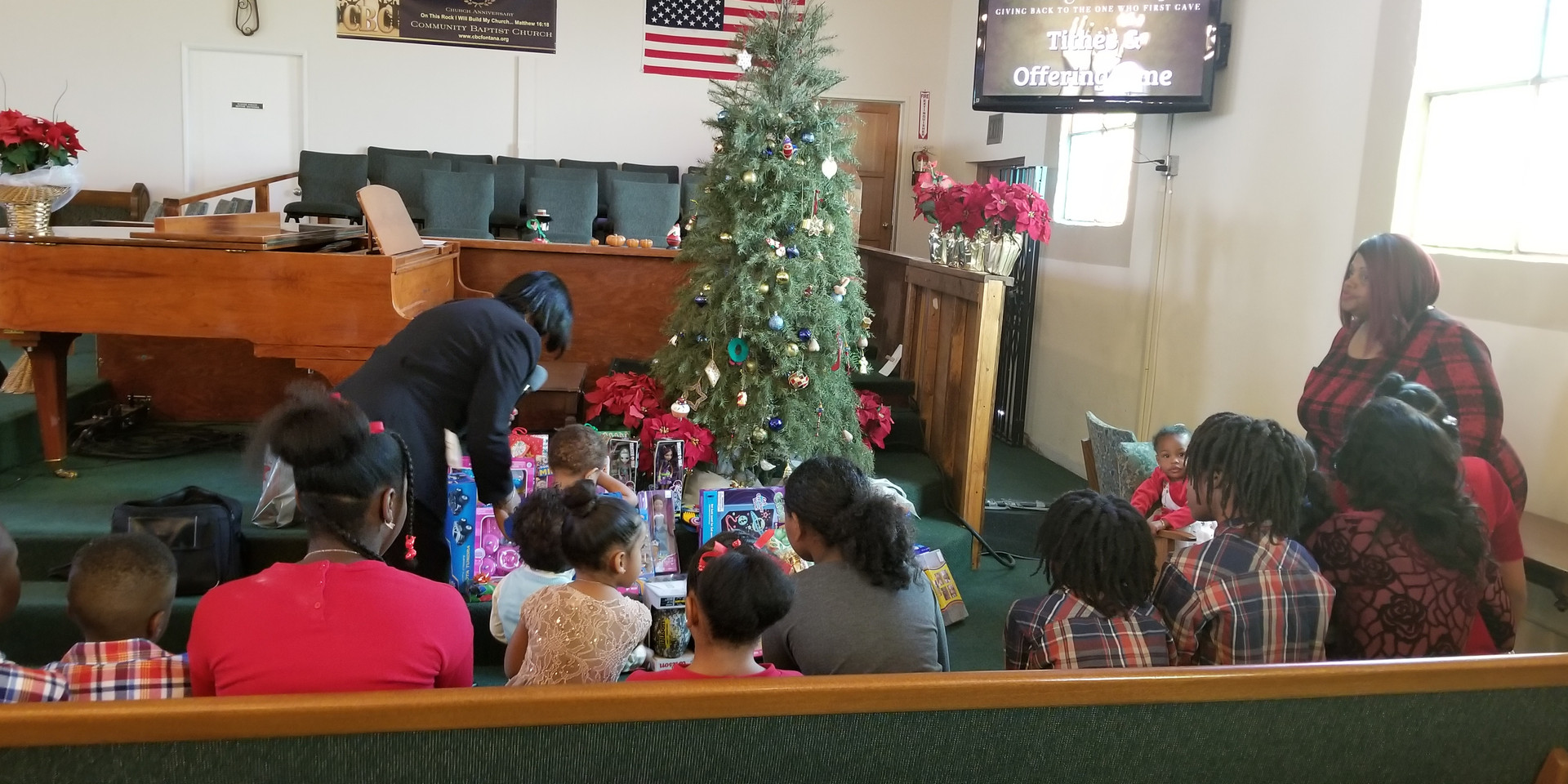 The  gift  of toys from  Community Baptist Church to  our  youth  Dec. 24, 2017