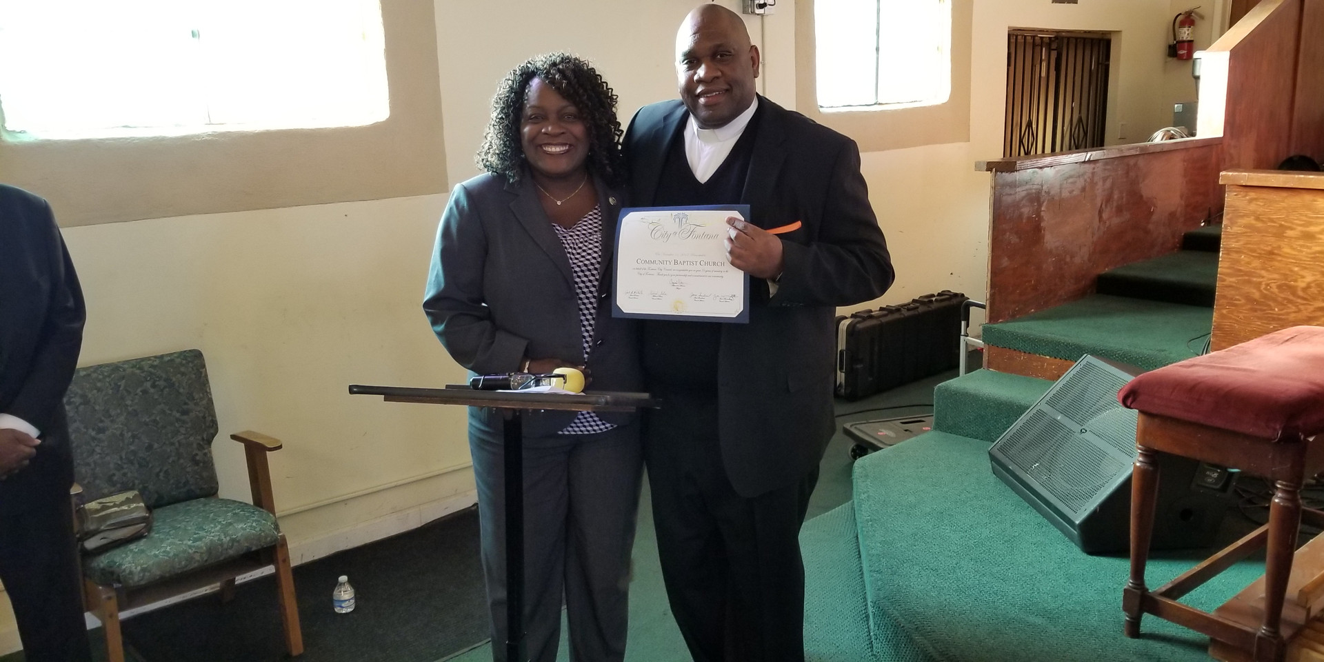 Mayor of Fontana &  Pastor Cooper- Church Anniversary 76 yrs