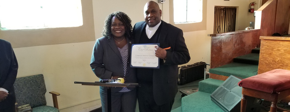 Mayor of Fontana &  Pastor Cooper- Church Anniversary 76 yrs