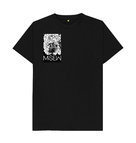 Small waves print shirt - Black