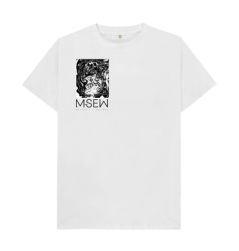 Small waves print shirt - White