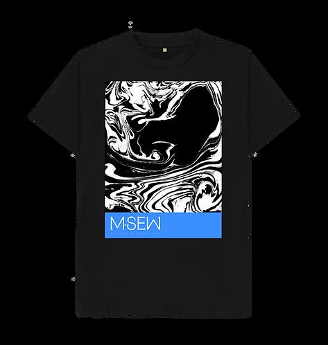 Large waves print shirt - Black