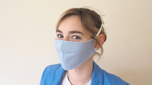 Small stripe face mask