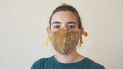 Printed mustard face mask