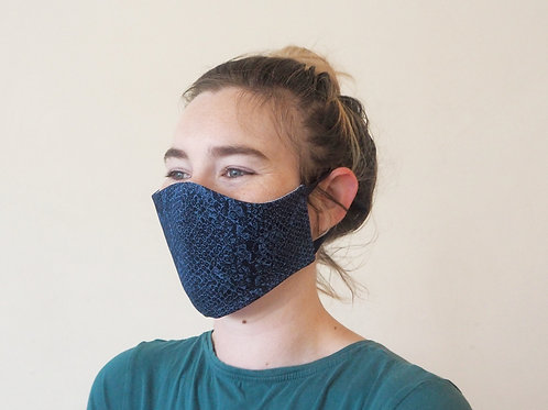 Printed navy face mask