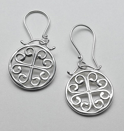 Southern Gates Collection Simple Round Scroll Earrings