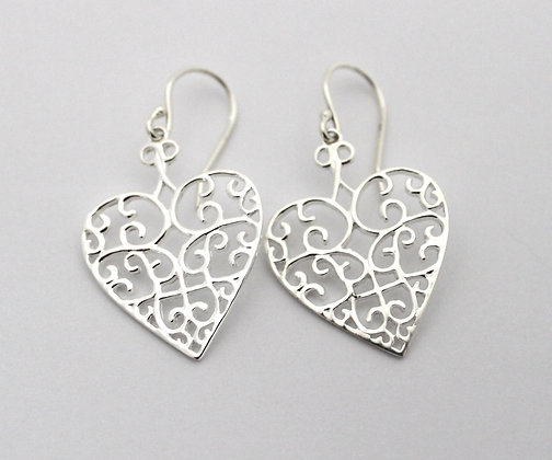 Southern Gates Collection Heart Earrings