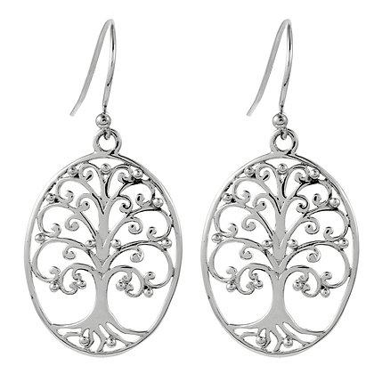 Southern Gates Collection Medium Oval Oak Tree Earrings