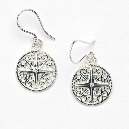 Southern Gates Collection Compass Rose Earrings