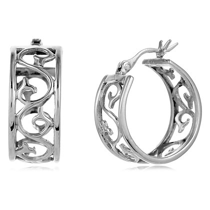Southern Gates Collection Scroll Hoop Earrings