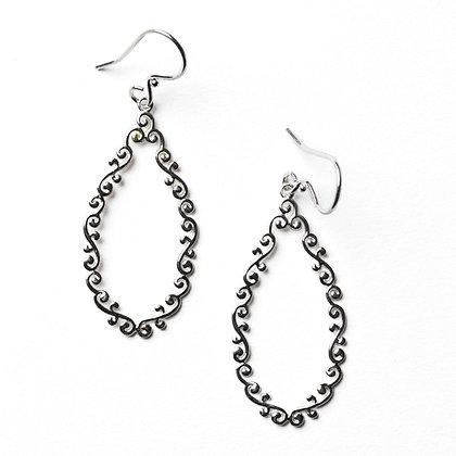 Southern Gates Collection Open Teardrop Earrings