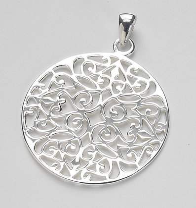Southern Gates Collection Large Original Round Scroll Pendant