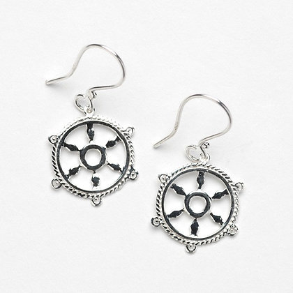 Southern Gates Collection Ship Wheel Earrings