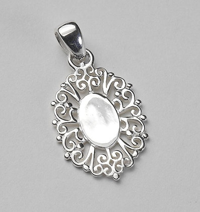 Southern Gates Collection Oval Engraveable Filigree Pendant