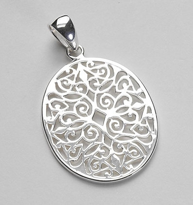 Southern Gates Collection Large Oval Scroll Pendant