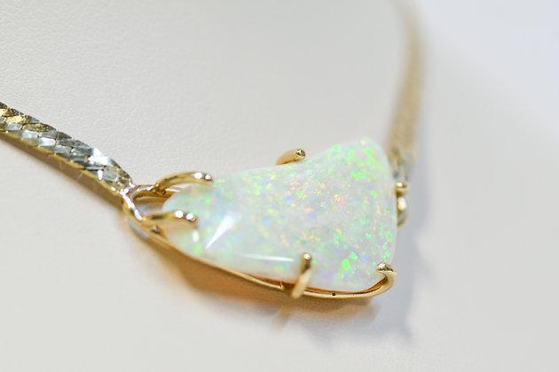 Custom Designed 14K Yellow Gold 21 carat Opal Pendant