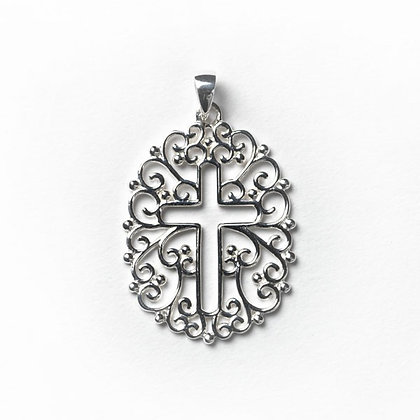 Southern Gates Collection Filigree Open Cross Pendant