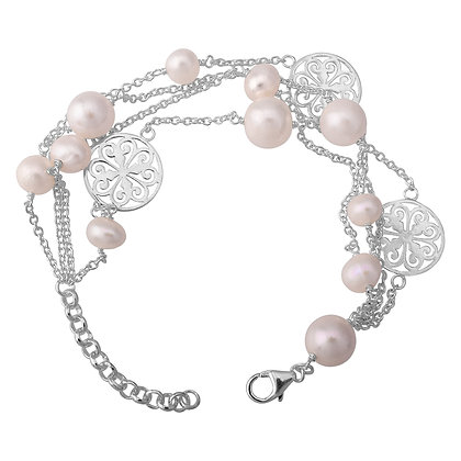 Southern Gates Collection Four Strand Pearl Bracelet