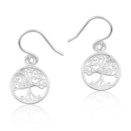 Southern Gates Collection Small Round Oak Tree Earrings
