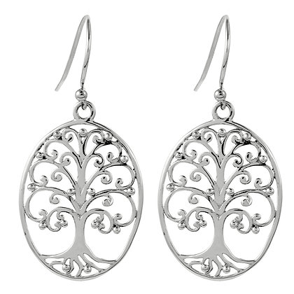 Southern Gates Collection Medium Oval Oak Tree Earrings