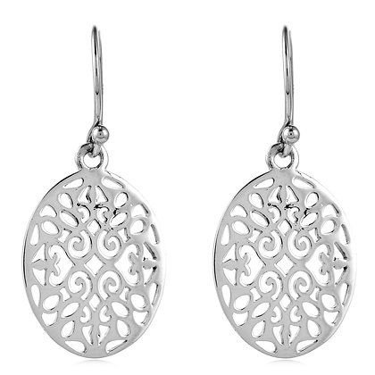 Southern Gates Collection Small Oval Scroll Earrings