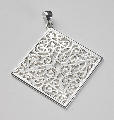 Southern Gates Collection Large Diamond Scroll Pendant