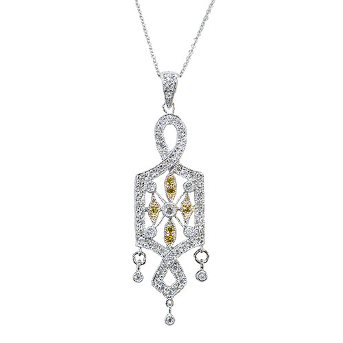 14k two tone diamond pendant and chain village jewelers ltd 14k two tone diamond pendant and chain village jewelers ltd estate engagement custom jewelry mozeypictures Images
