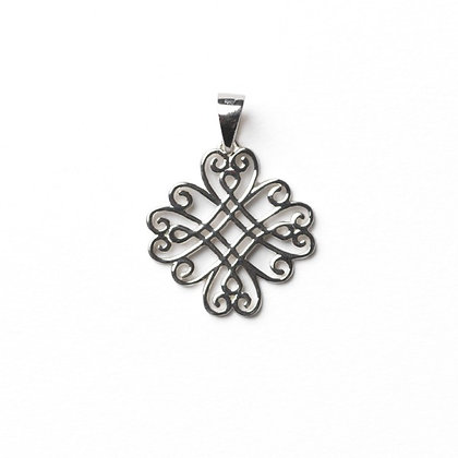 Southern Gates Collection Scrolling Medallion Pendant