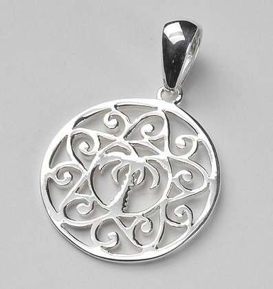Southern Gates Collection Medium Palmetto and Scroll Pendant