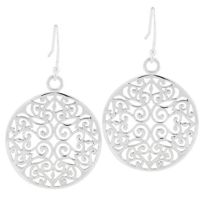 Southern Gates Collection Large Round Original Scroll Earrings