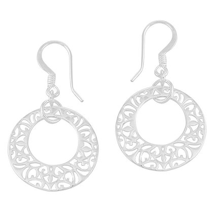 Southern Gates Collection Small Open Center Filigree Earrings