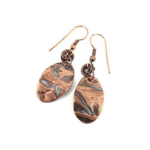 Copper Egg Earrings