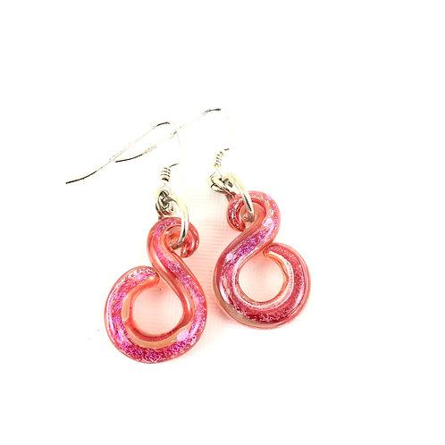 Red Hot Infinity Earrings