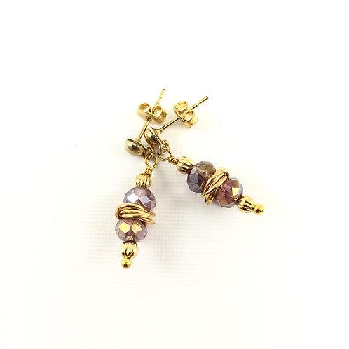 Golden Orbits Earrings