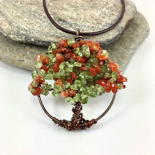 Autumn Tree of Life Pendant