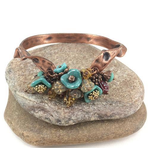 Regal Flower Drop Bracelet