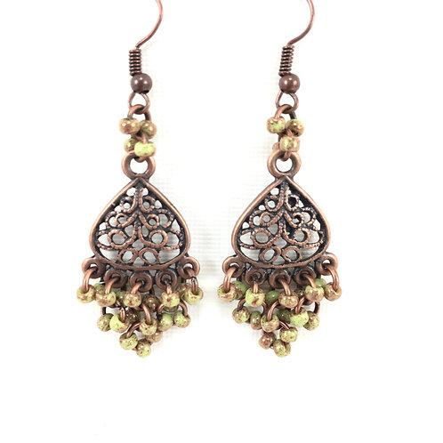 Mossy Drop Earrings