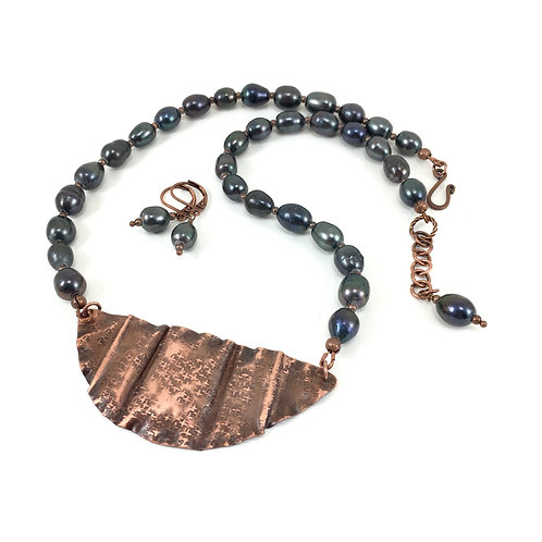 Empress Copper Necklace Set