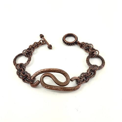 Ying Yang Copper Bracelet