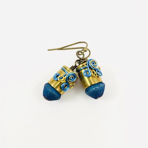 Diamond Dust Nugget Earrings