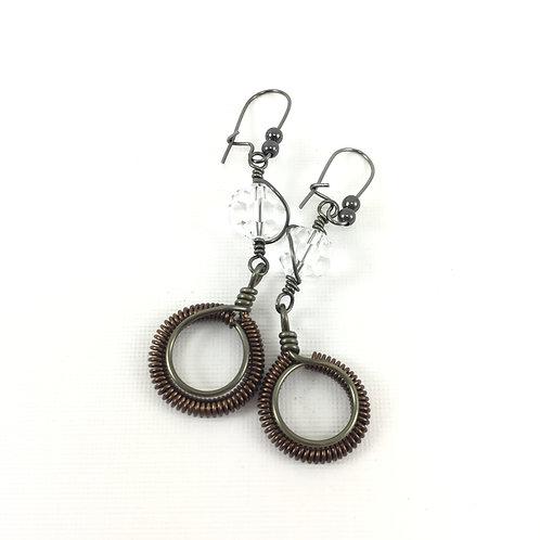 Coiled Drop Earrings